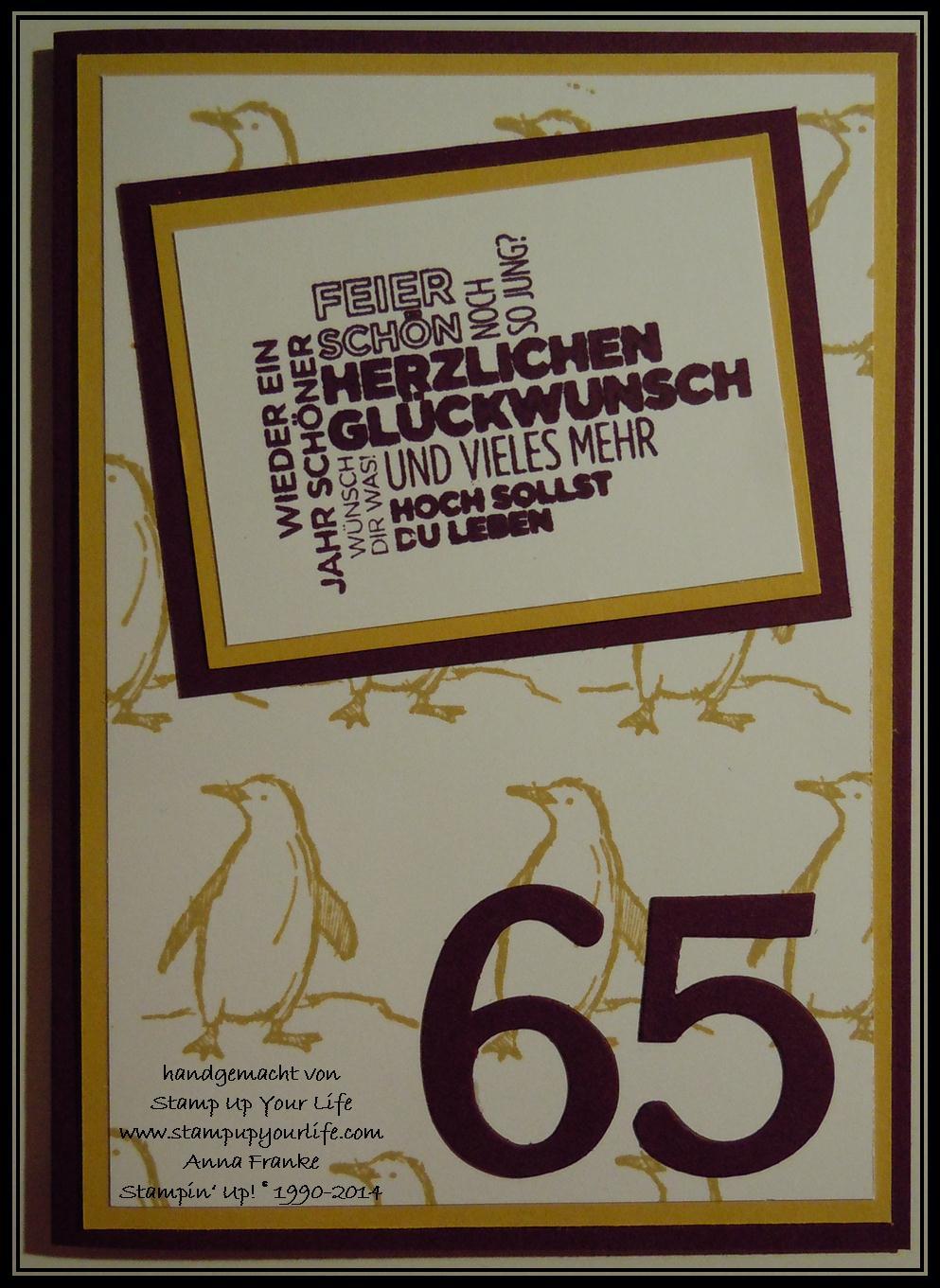 Karten zum 65 geburtstag kostenlos