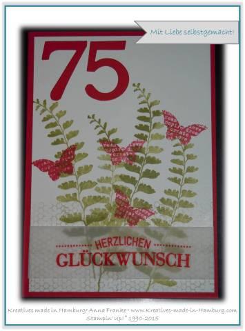 Geburtstagskarte 75 spruch